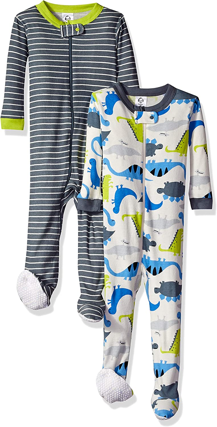 Gerber Baby Boys 2-Pack Footed Unionsuit