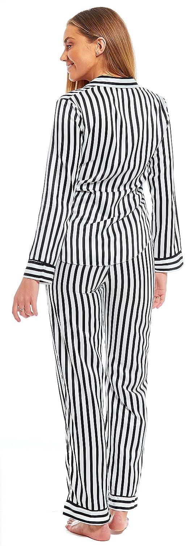 Slumber Hut Ladies Satin Pyjamas Ex DUNNES Matte Traditional Collar ...