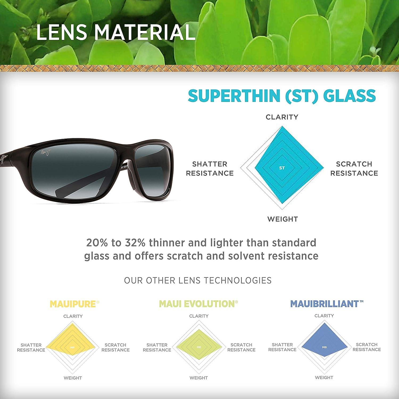 Maui Jim unisex-adult Spartan Reef Wrap Sunglasses