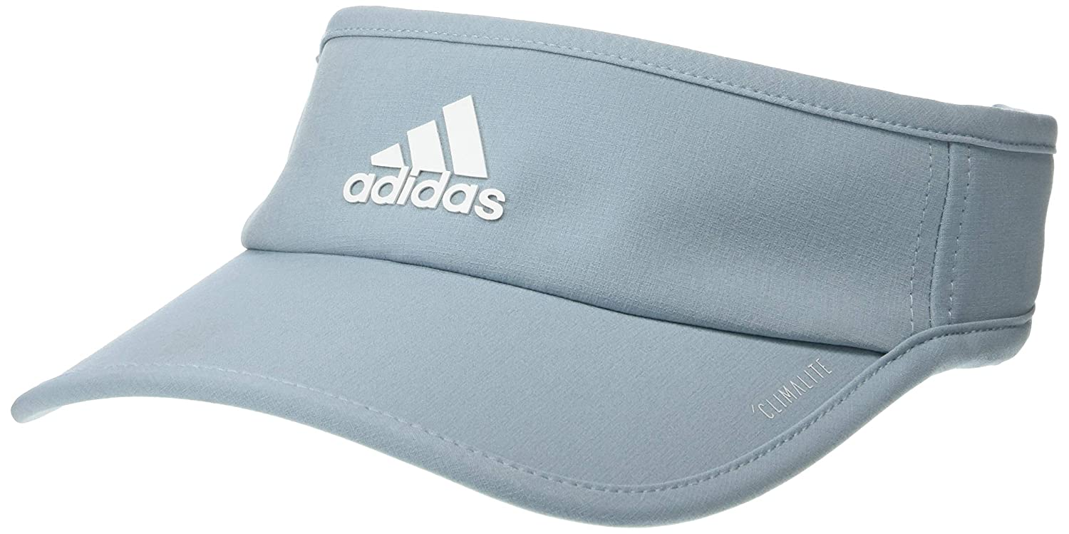 76d9269d5d1cfb Amazon.com: adidas Women's SuperLite Visor, Ash Grey/White, One Size:  Clothing