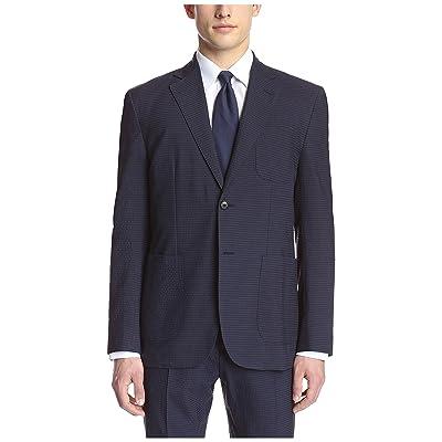 Hardy Amies Men's 2 Button Patch Pocket Seersucker Jacket at Amazon Men's Clothing store