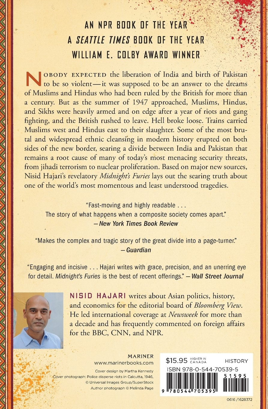 Midnight's Furies: The Deadly Legacy Of India's Partition: Nisid Hajari:  9780544705395: Amazon: Books