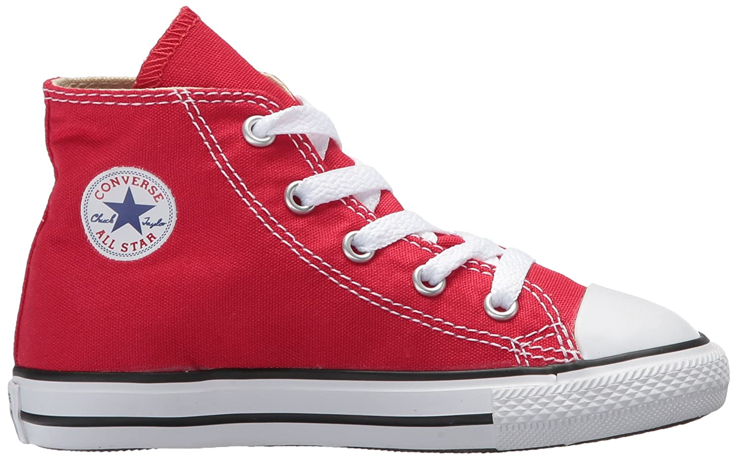Converse Kids' Canvas Chuck Taylor All Star Canvas Kids' High Top Sneaker B0000938CZ 10 M US Toddler|Red f2ca0c
