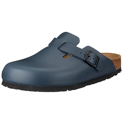 ObJkkNxc61 Classic Boston Leder, Unisex-Erwachsene Clogs, Blau (Blau), 37 EU