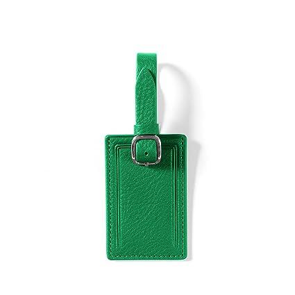 1a95de53d1fa Mini Rectangular Luggage Tag - Full Grain Leather - Kelly Green (green)