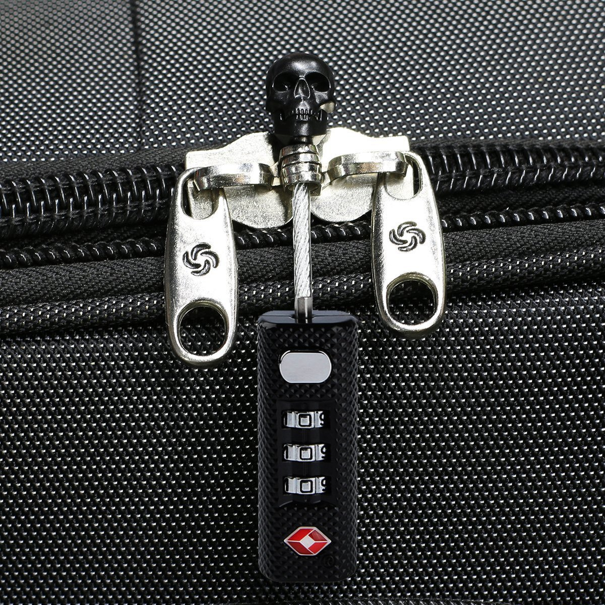 TSA Luggage Lock 2 Pack - Mini Travel Lock - 3 Digit Combination - TSA Approved for Suitcase, Backpack, GYM Lockers, Cabinets, Toolbox and More