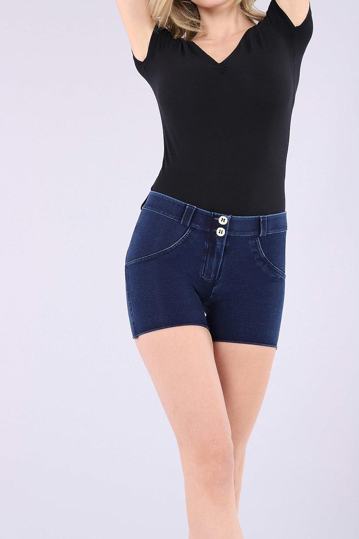 FREDDY Pantaloncini WR.UP/® Vita Regular in Jersey Effetto Denim