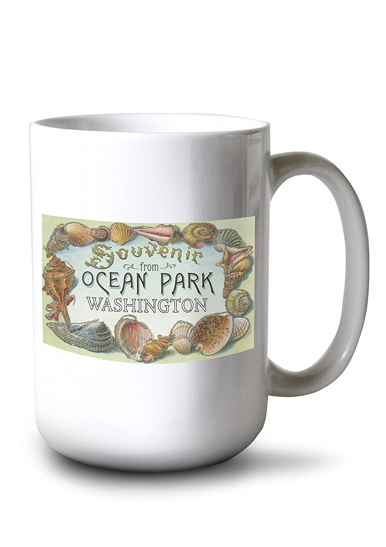 海洋公園、ワシントン – シェルお土産 15oz Mug LANT-3P-15OZ-WHT-33487 B077RS62N8  15oz Mug