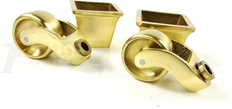 canap/és /Rjb171//_ BR chaises tabourets ect/ Lits Knightsbrandnu2u 4/X carr/é Laiton Castor Tasse avec Une Roulette DE 38/mm pour Meubles canap/és