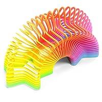 Tobar a forma di arcobaleno molla giocattolo 7,5 cm magia rimbalzante elastico colorato bambini
