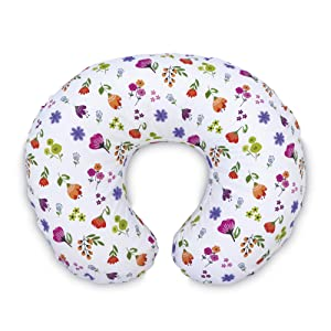 Boppy Original Pillow Cover, Bright Blooms, Cotton Blend Fabric with Allover Fashion, Fits All Nursing Pillows & Positioners, Pink
