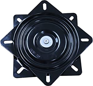 Trendler Bar Stool Swivel Plate Replacement - 7 Inch Square 3 Degree Pitch - 360 Degree Rotation - Commercial Grade Chair and Stool Replacement Parts - Made in USA
