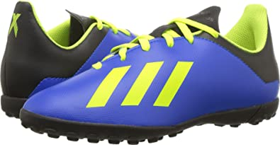 more photos b2063 2e0ed adidas Unisex X Tango 18.4 TF J Soccer Shoe Football Blue Solar Yellow core