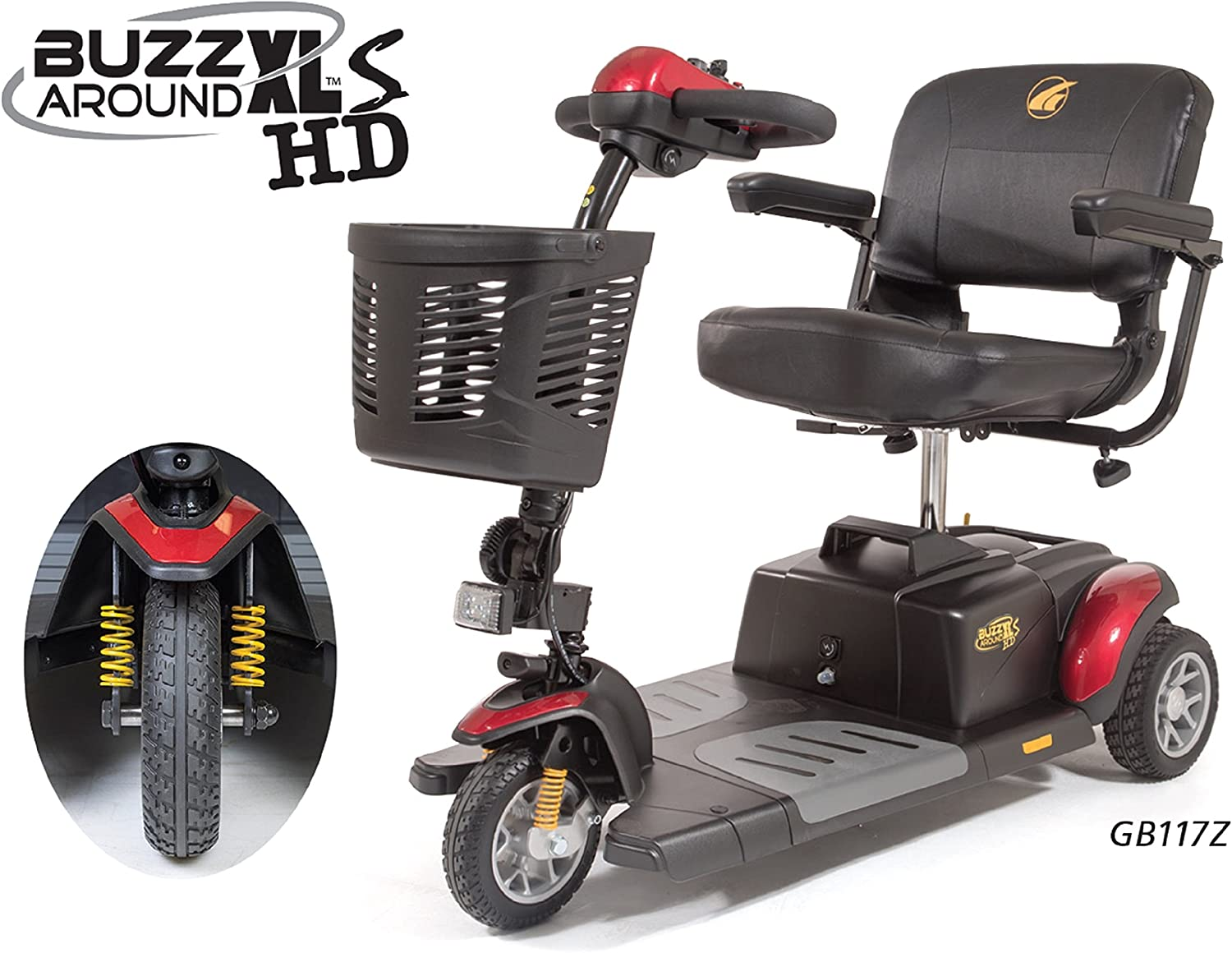 Golden Technologies - Buzzaround XLS HD - Travel Scooter - 3-wheel - Red