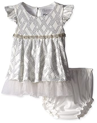 5529c801b202 Amazon.com  Rare Editions Baby Baby Girls  Infant Textured Knit ...