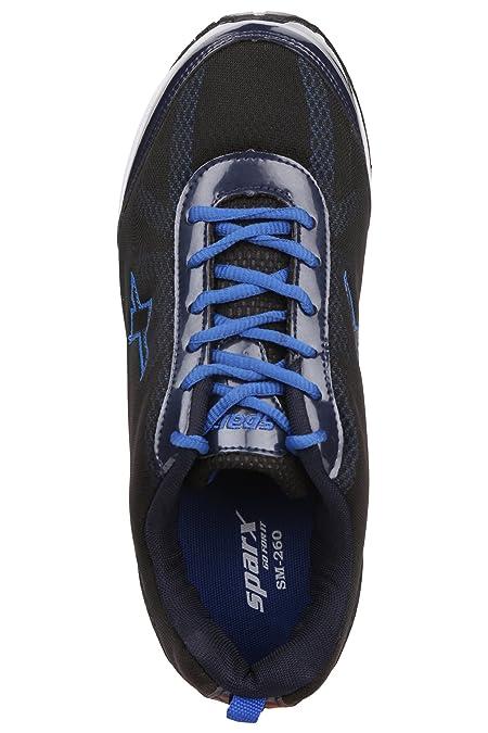 Sparx Men's Black Royal Blue Colour