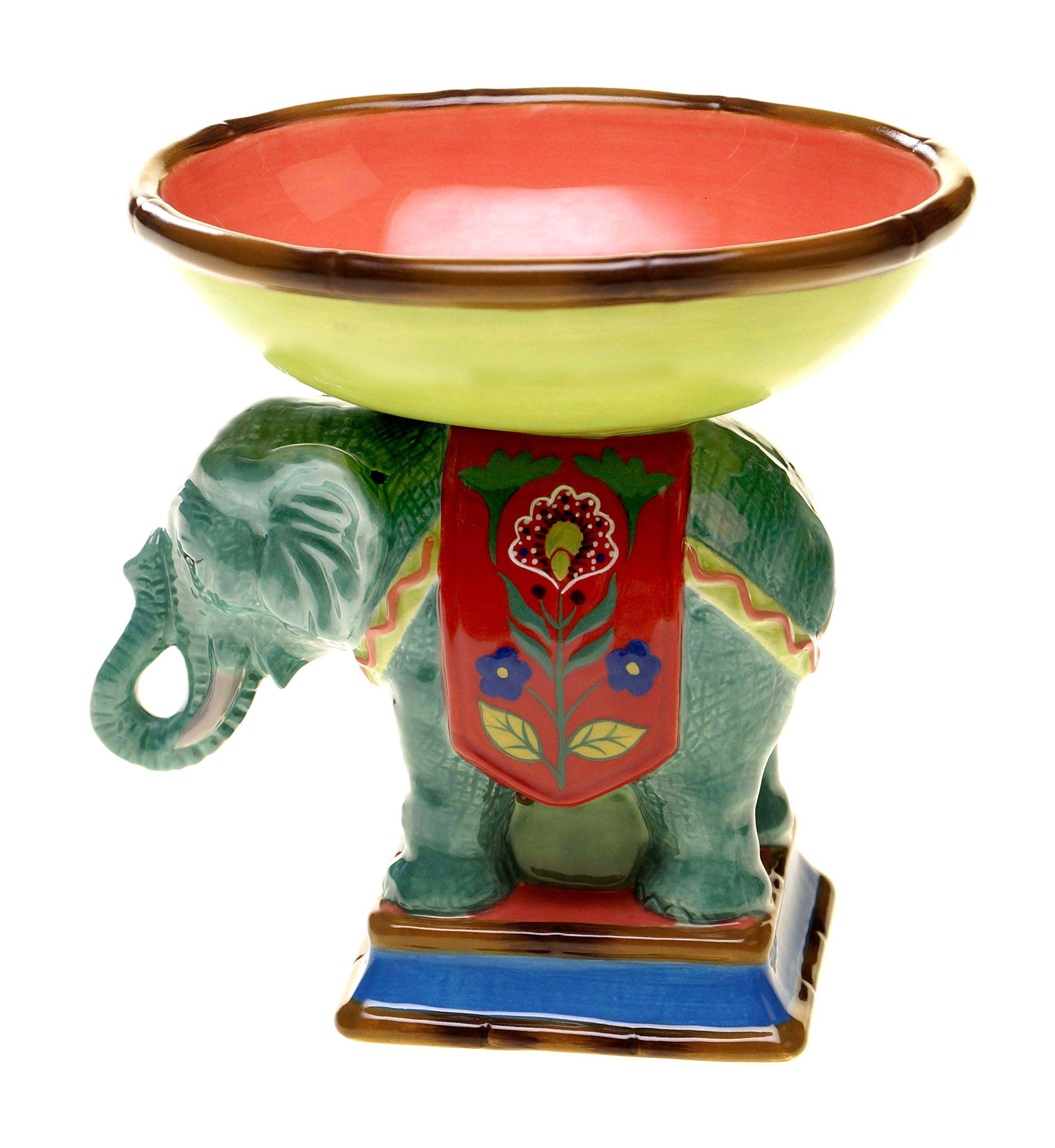 Tracy Porter for Poetic Wanderlust Eden Ranch 3-D Elephant Pedestal Bowl