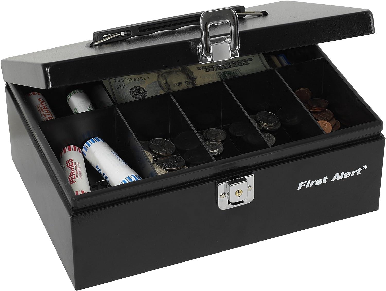 First Alert 3020F Steel Cash Box.19 Cubic Ft, Black