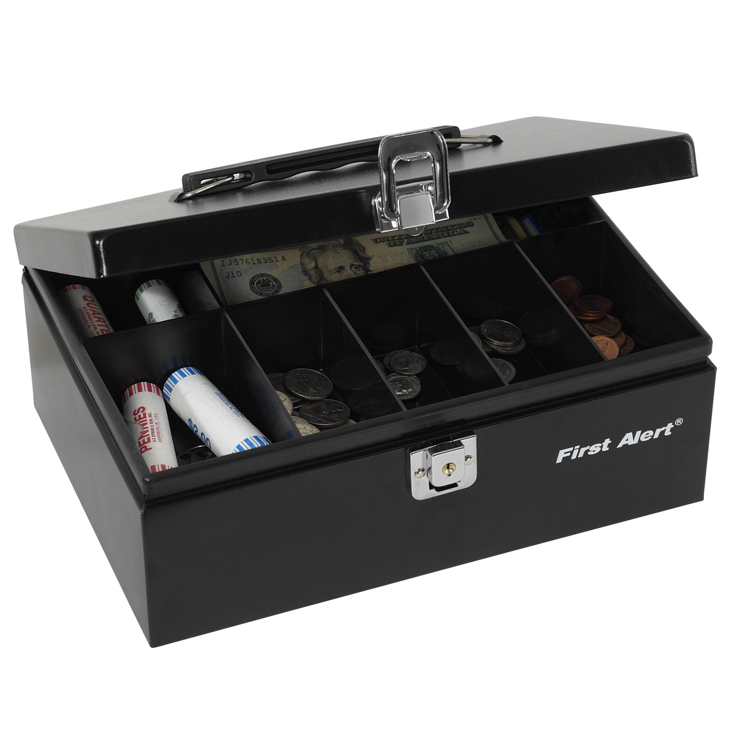 First Alert 3020F Steel Cash Box, Black