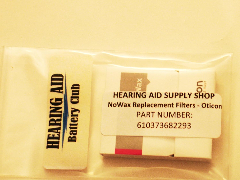 Amazon.com: No-Wax Wax Guard for Oticon Hearing Aids: Health ...