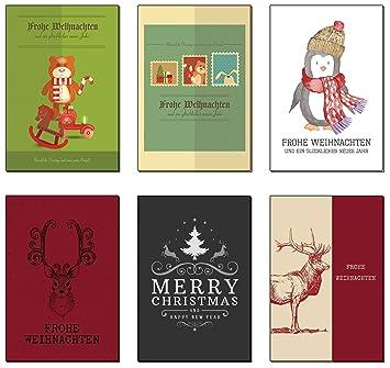 Card Verlag Weihnachtskarten.Weihnachtskarten Weihnachtspostkarten Set 28 St Frohe Weihnachten Frohes Neues Jahr Nostalgie 28 Verschiedene Motive Weihnachtskarten