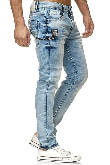 Redbridge Vaquero Recto De Hombre Pantalones Rasgados Denim Moda Jeans Vaqueros Ropa