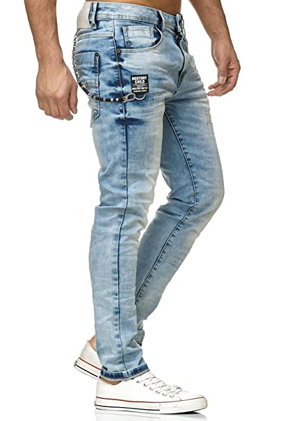 Redbridge Hombres Denim Vaqueros Ice Destruida Pantalones Moda Jeans
