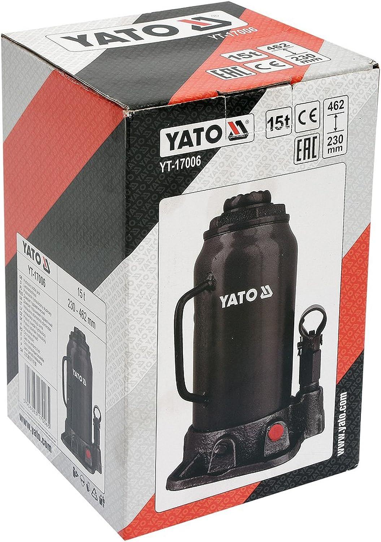 YT YATO-17006-Cric a bottiglia 15t idraulica