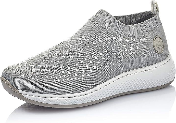 Rieker Antistress Damen Sneaker Schuh Halbschuh Taupe Gr 327 42
