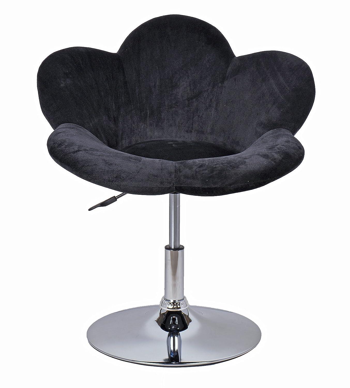 ts-ideen Barstool flower in black/design lounge chair/bar chair/club ...