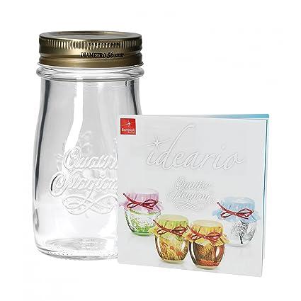 Quattro Stagioni botellas 0,20l incluye Bormioli libro de recetas – como zumos Smoothie bebidas