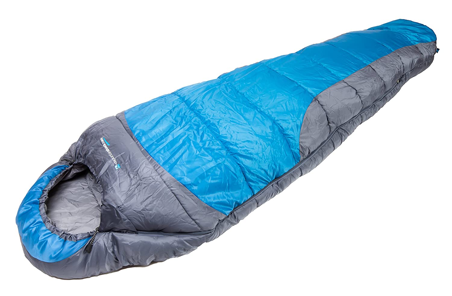 Mummy Sleeping Bag Windproof Water Resistant Warm To 0C Compresses Fully For Compact Easy Carry Soft Lining Smooth No Snag Zipper