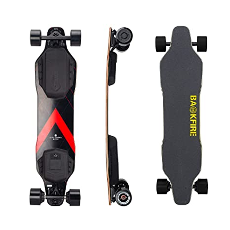 BACKFIRE New G2 Electric Longboard 2019 with G2T New Motors and ESC, 23 Mph  Top Speed, 6 to 10 Miles Range, 83MM Wheels
