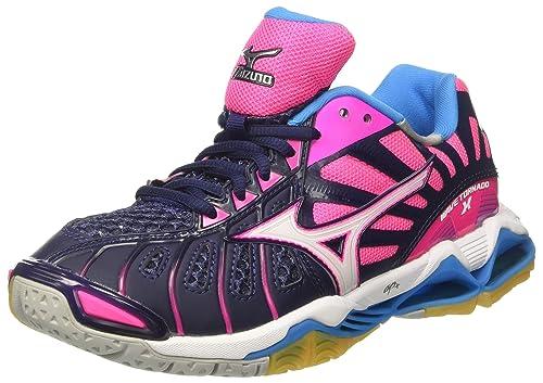 Mizuno Wave Tornado X Wos, Zapatos de Voleibol para Mujer, (Peacoat/White