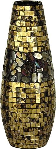Dale Tiffany PG10040 Antique Gold Art Decorative Vase
