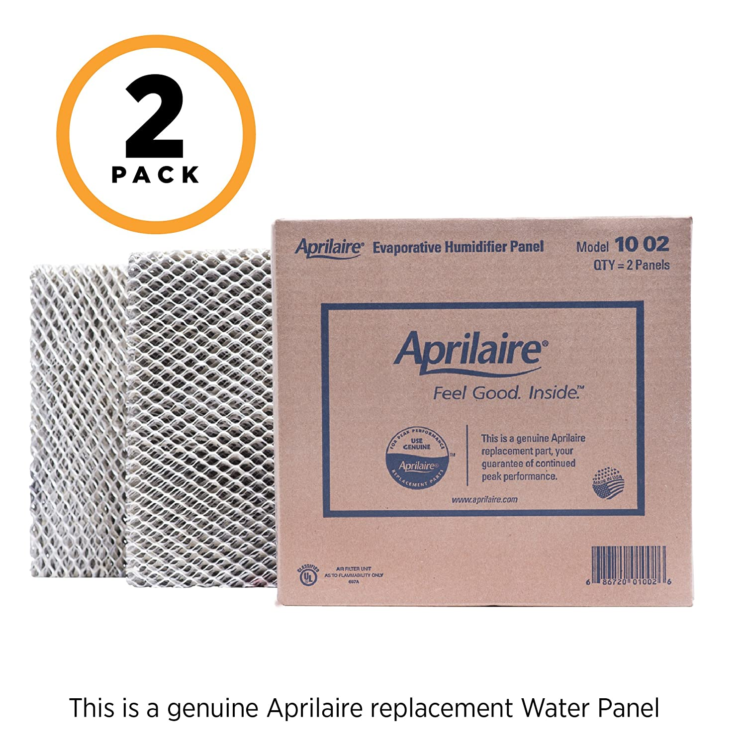 Aprilaire 10 Replacement Water Panel for Aprilaire Whole House Humidifier Models 110, 220, 500, 500A, 500M, 550, 558 Pack of 2