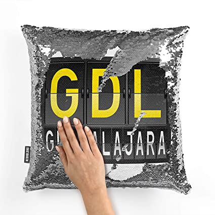 Amazon.com: NEONBLOND Mermaid Pillow Cover GDL Airport Code ...