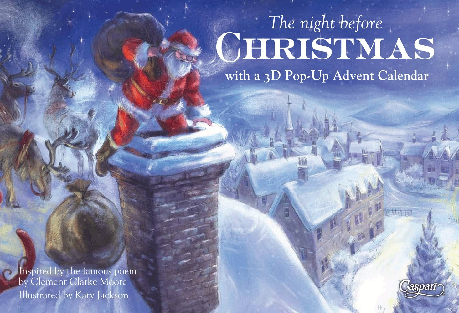 Caspari Christmas Advent Calendar and Story Book, Night Before Christmas Caspari Inc. ADV218
