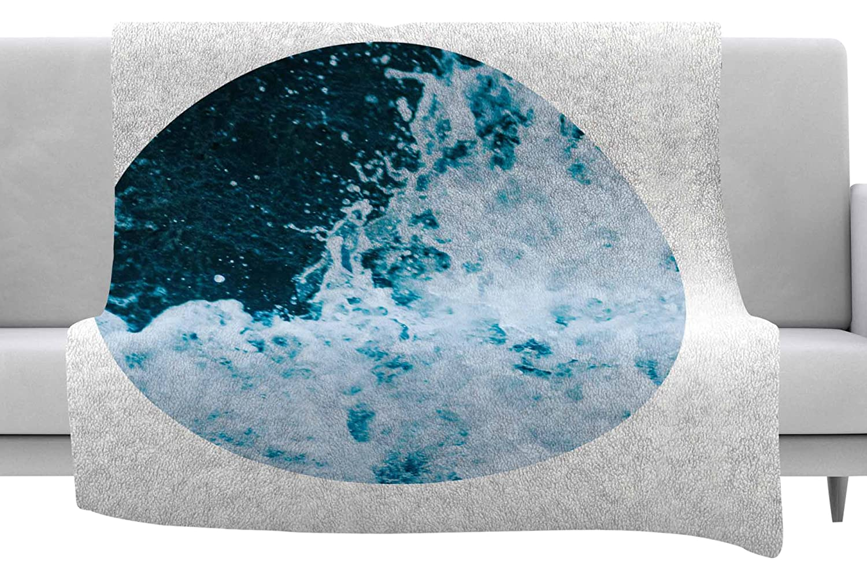 40 x 30 Fleece Blanket Kess InHouse Chelsea Victoria The Sea Nautical Blue Throw