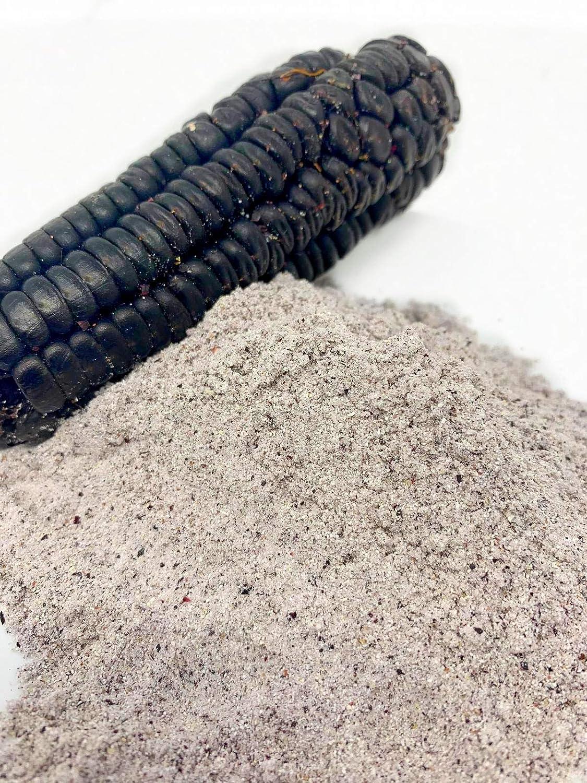 Heirloom Organic PURPLE CORN 16 oz (1 lb.) Powder Cornmeal Flour for Baking, Smoothies, Cornbread, Tortillas, USA Stone Ground Milled