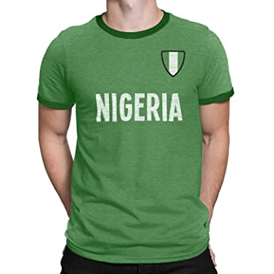 Mens Nigeria Country Name and Badge T-Shirt Football World Cup 2018 Sports 2ca28f085