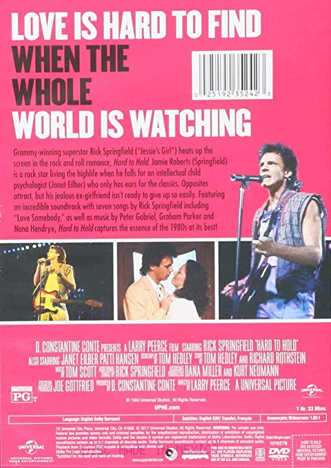 Amazon.com: Hard to Hold: Rick Springfield, Janet Eilber ...