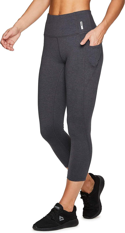 Leggings mit Taschen Yoga Laufen volle L/änge RBX Active Damen Capri//Kn/öchel hohe Taille Workout