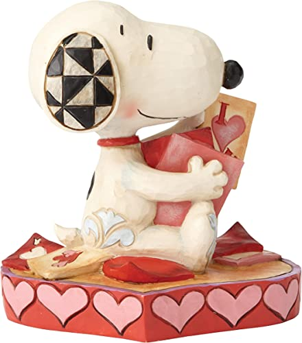 Peanuts by Jim Shore Snoopy With Valentine s Cards Figurine