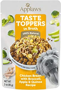 Applaws Taste Toppers Chicken, Broccoli, Apple & Quinoa Broth Wet Dog Food, 3 oz.