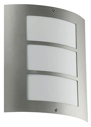 Eglo 88139a city wall light stainless steel wall porch lights eglo 88139a city wall light stainless steel aloadofball Images