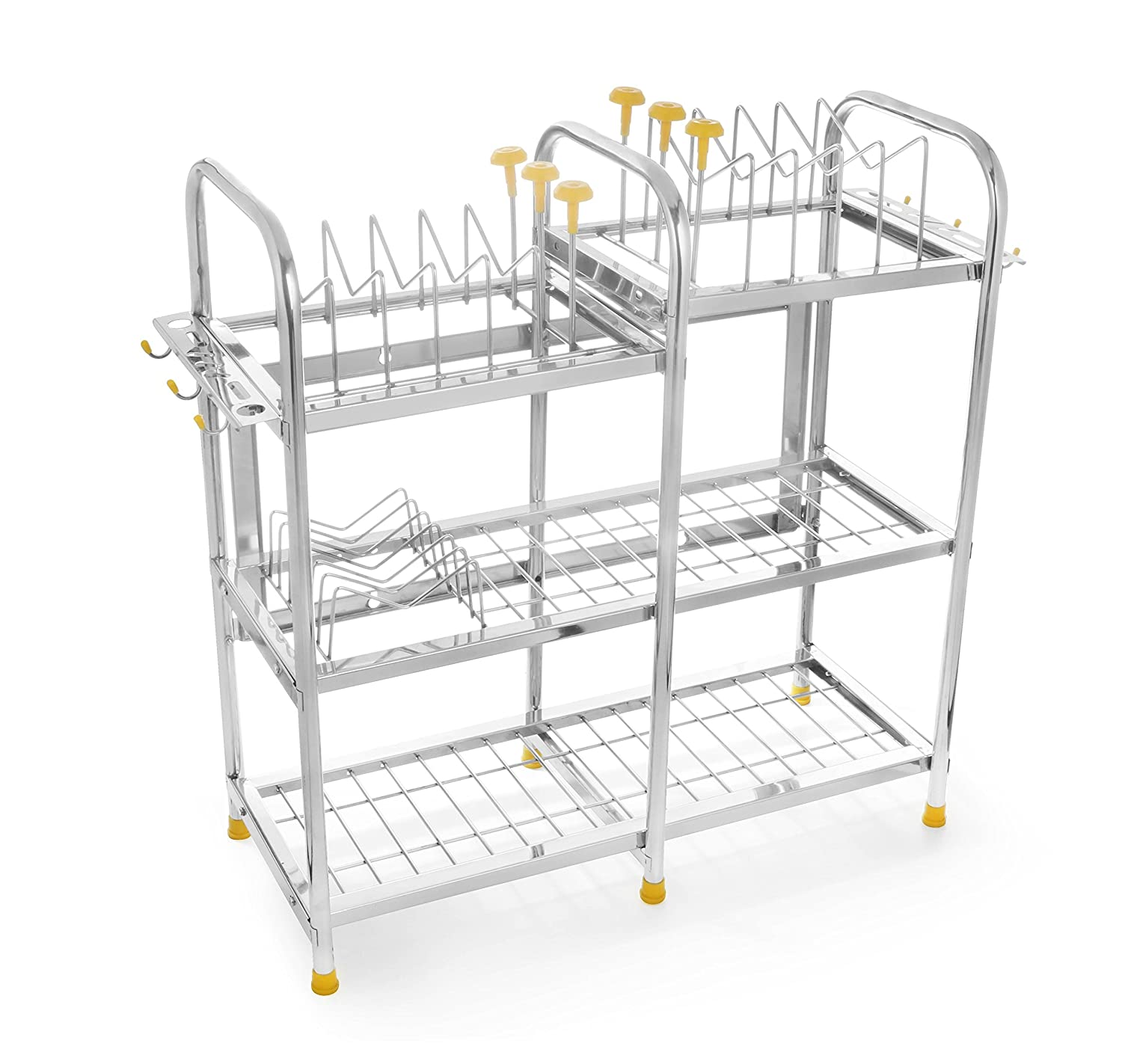 Buy classic essentials stainless steel kitchen rack silver online at low prices in india amazon in