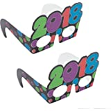 2018 Glitter New Year Party and Countdown Glasses (1dz)