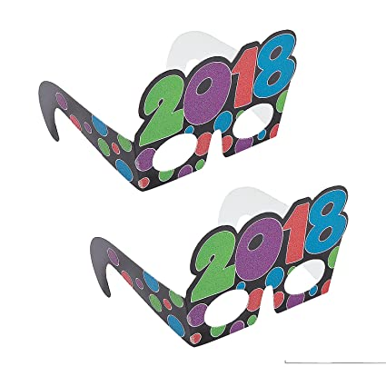 2018 glitter new year party and countdown glasses 1dz