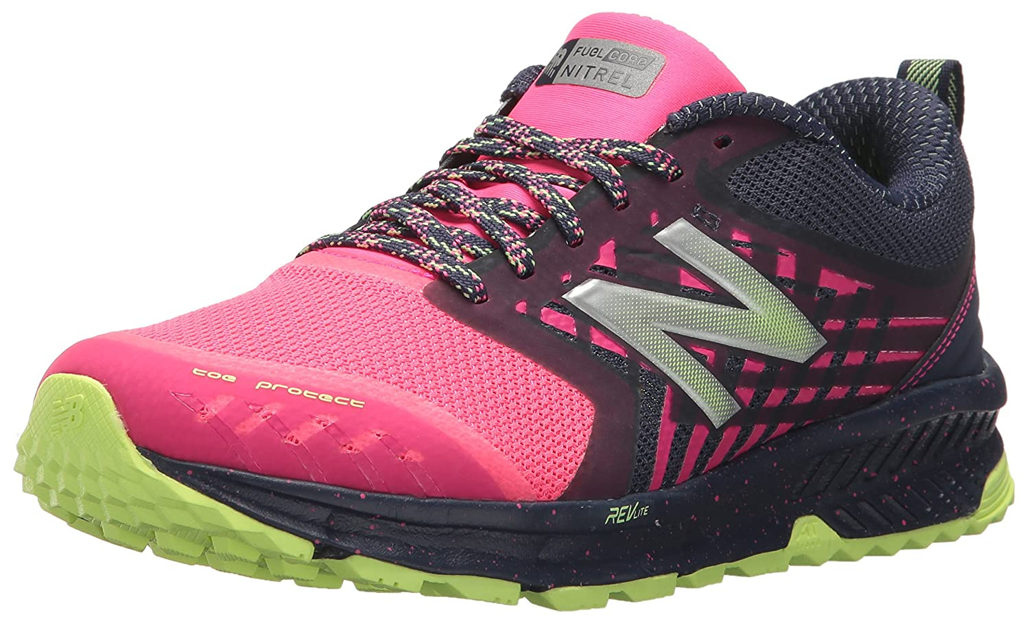Amazon.com | New Balance Womens Nitrel v1 FuelCore Trail Running Shoe, Grey/Pink, 7 D US | Trail Running